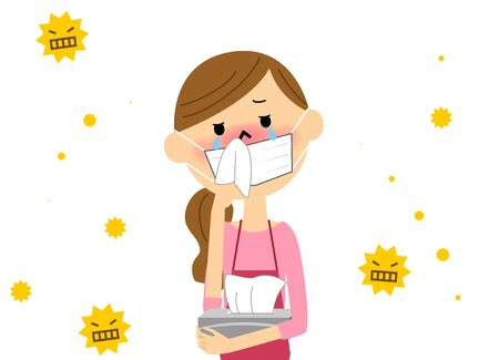 The female with hay fever