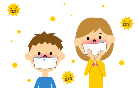 cypress: Child with hay fever Illustration