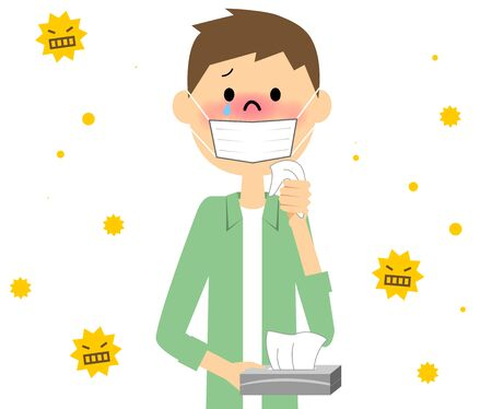 itchy: Man with hay fever