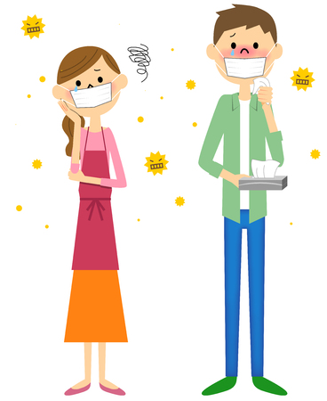 cypress: Couple with hay fever Illustration