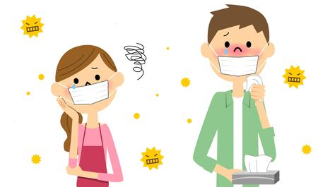 Couple with hay fever