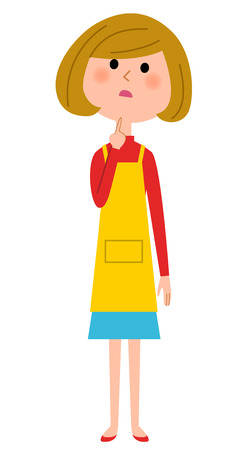 The female of the apron who thinks