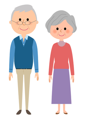 Elderly couple Иллюстрация