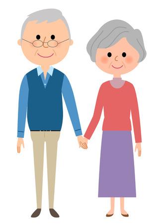 高齢者のカップル  イラスト・ベクター素材