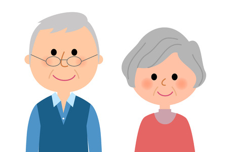 Elderly couple Ilustrace