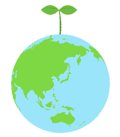 wakaba: Eco Earth Illustration