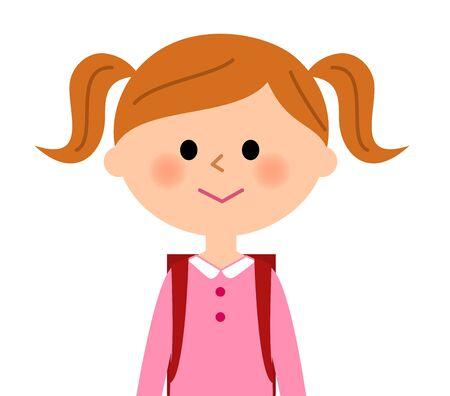satchel: The girl who shoulders a school satchel