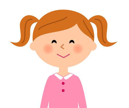escuela infantil: Chica de una cara sonriente