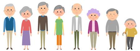 middle aged couple: Aged senior