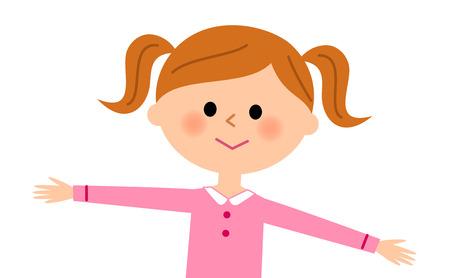 escuela infantil: La chica que abre los brazos Vectores