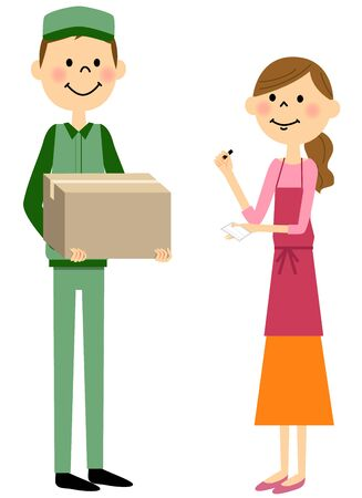 Women who receive courier
