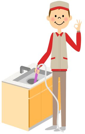 drain: The man who cleans the drain