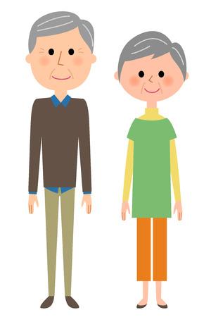 Elderly couple Иллюстрация