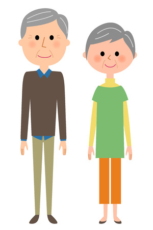 Elderly couple Illustration