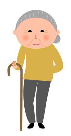 Elderly woman Иллюстрация