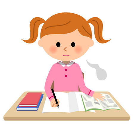 Das Mädchen, das studiert, Sigh Vektorgrafik