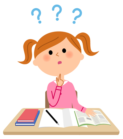The girl who studies, Question Illustration