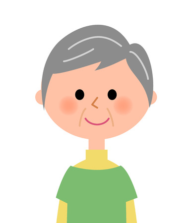 woman middle age: Elderly woman Illustration
