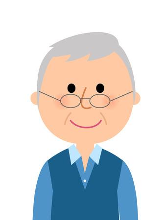 Elderly man Иллюстрация