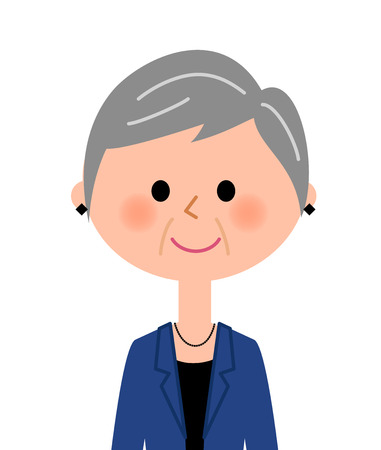 middle age woman: Elderly woman who are fashionable Illustration