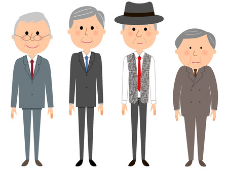 Elderly men who are fashionable