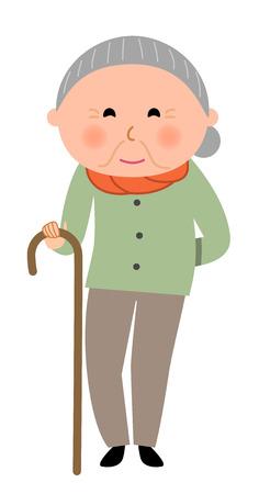 ファッショナブルな高齢女性