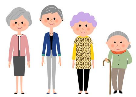 Elderly women who are fashionable