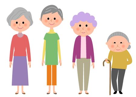 woman middle age: Elderly women