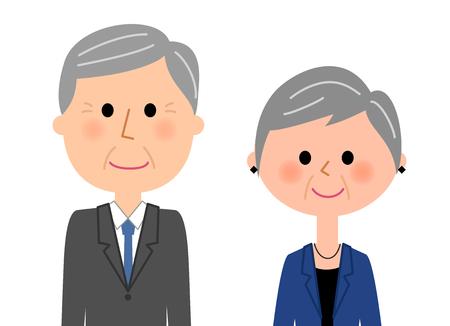 Fashionable elderly couple