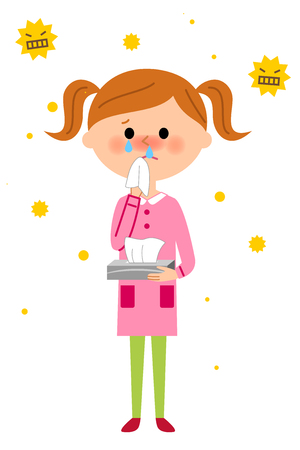 Child with hay fever