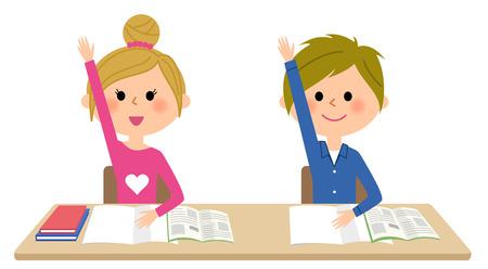 Kinderen om te studeren