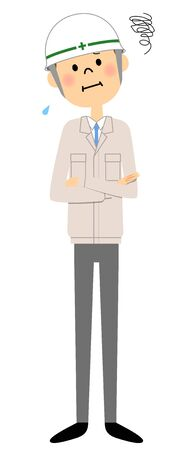 Site supervisor, Be worried Illustration
