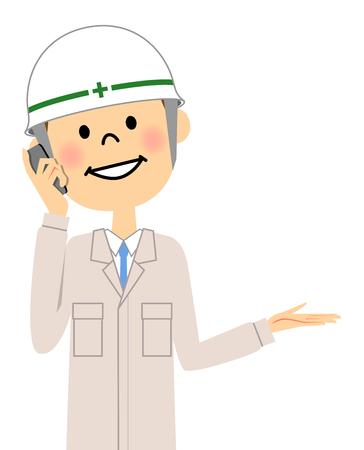 Site supervisor, Phone Illustration