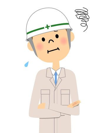 Site supervisor, Be worried Illustration