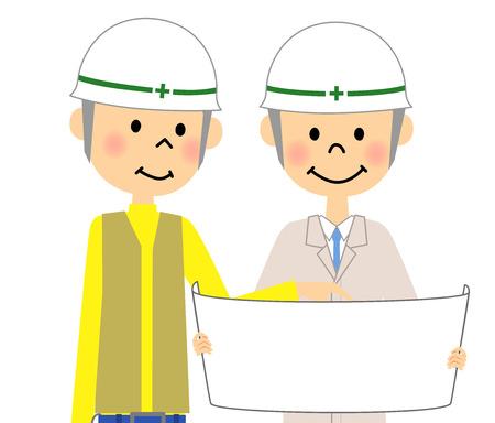 Site supervisor, Meeting Illustration