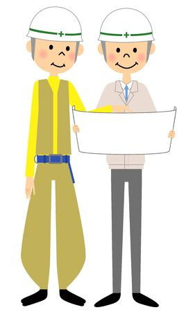 Site supervisor, Meeting Illustration