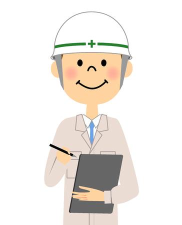 Site supervisor, Confirmation Illustration