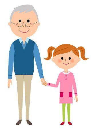 Grandpa and a girl