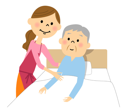 The elderly man who receives nursing