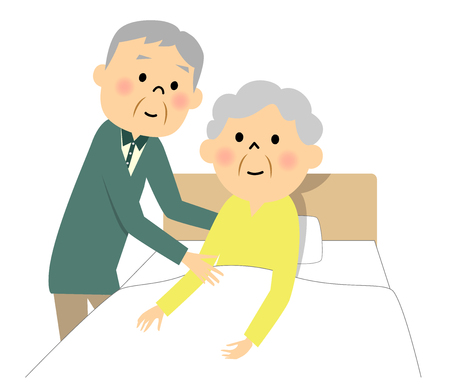 age old: The elderly lady who receives nursing
