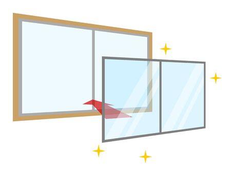 Double window Illustration
