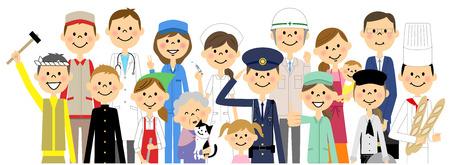 People in the city Stock Illustratie
