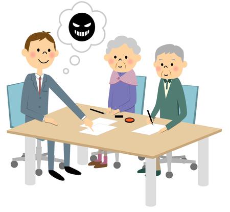 incident: Meeting, fraudulent contract