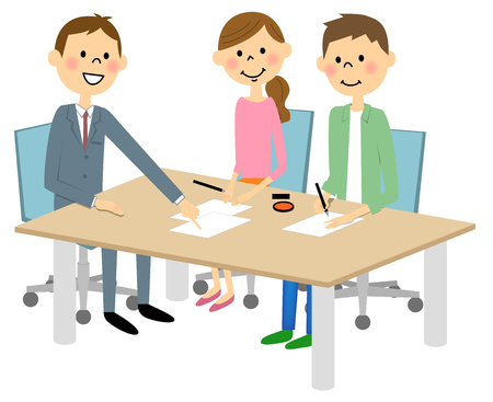 Meeting and signing a contract