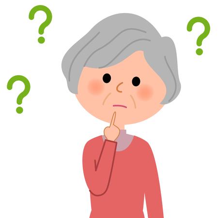 Femme âgée, question