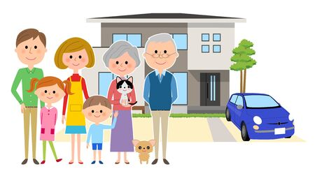 Home and the family Illustration
