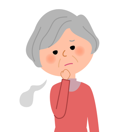 Elderly women, Sigh Illustration