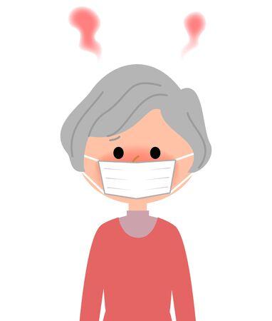 Elderly women, Fever