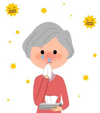 Elderly women, Hay fever
