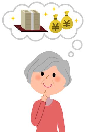 Elderly women, Great cost